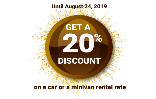 20% discount car rental
